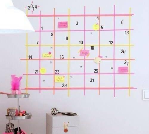Diy Wall Calendar Partaaaayyyyy Pinterest