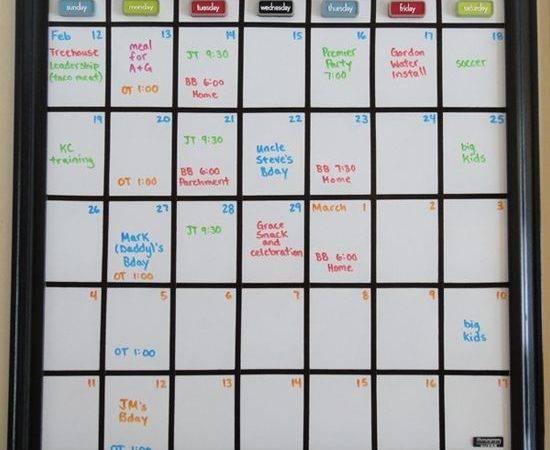 Diy Whiteboard Calendar Would Good Fitness