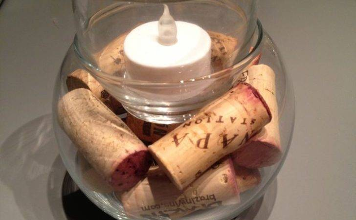 Diy Wine Cork Candle Holder Cost Bowl Tea