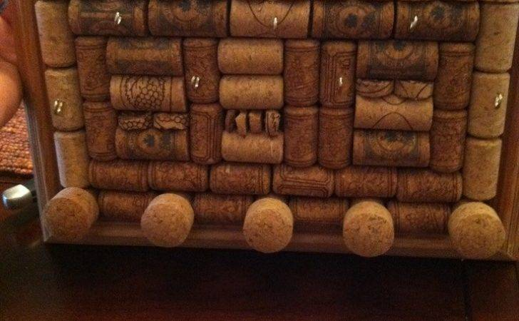 Diy Wine Cork Jewelry Holder Projects Pinterest