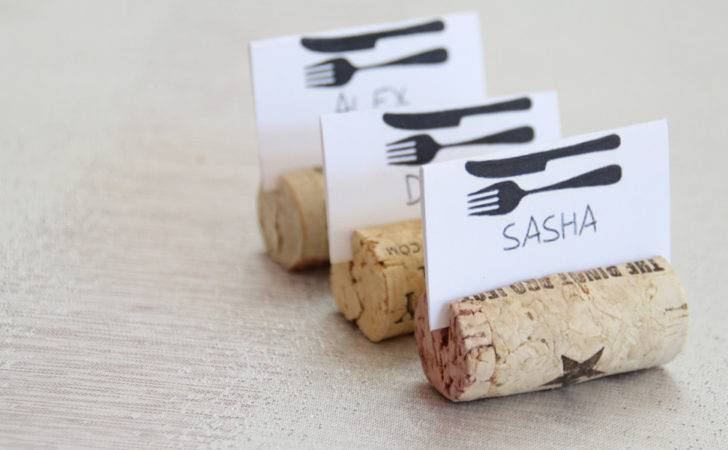 Diy Wine Cork Place Card Holders Guide Patterns