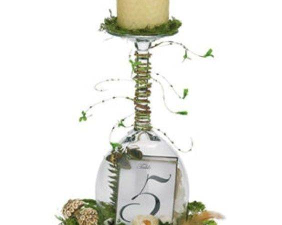 Diy Wine Glass Centerpieces Easy Centerpiece Ideas