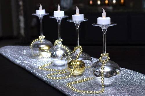 Diy Wine Glass Christmas Decorations Project