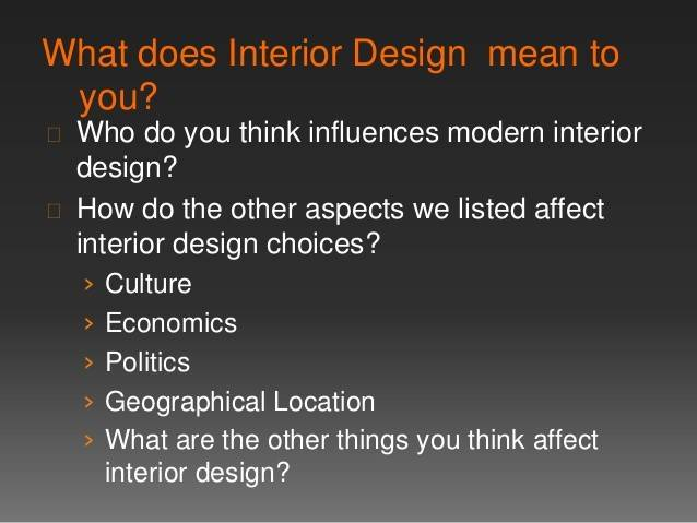 Does Interior Design Mean Home