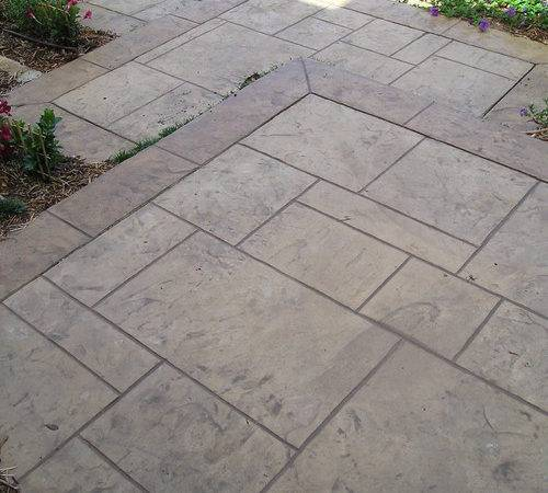Does Stamped Concrete Get Slippery Around Pool Hot Sun