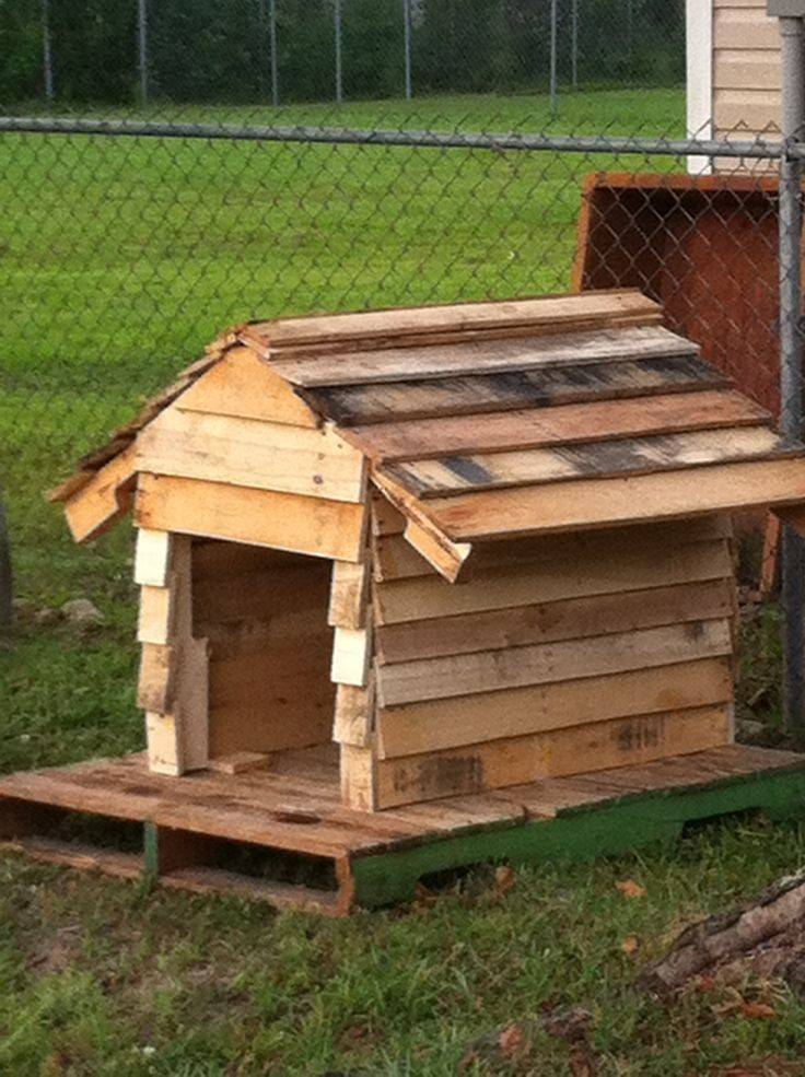 Dog House Made Pallets Pinterest