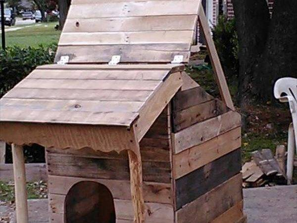 Dog House Made Pallets Protect Your Rain