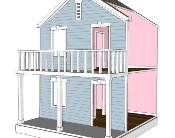 Doll House Plans American Girl Inch Dolls Room Side Play