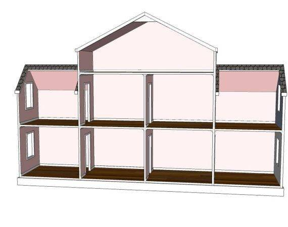 Doll House Plans Room Option American Girl Inch Dolls