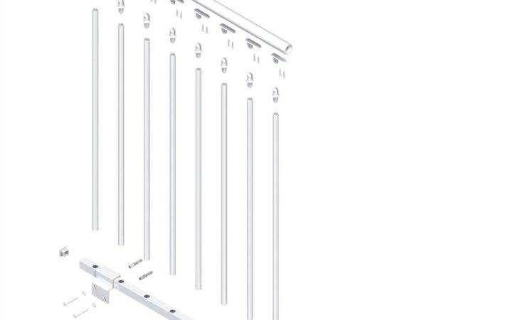 Dolle Stockholm White Prefinished Steel Stair Railing Kit