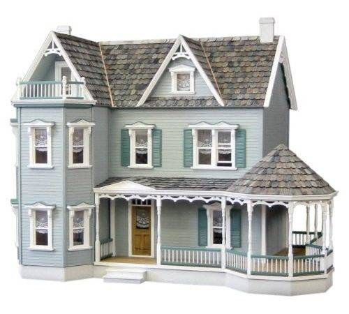 Dollhouse Curved Stairs Magnificent Victorian Style