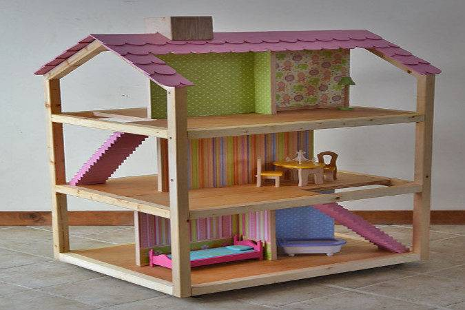 Dollhouse Plans Woodworking Wooden Doll House