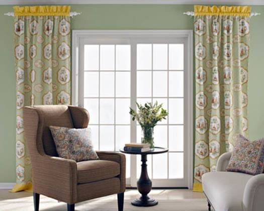 Door Window Treatments French Single Patio