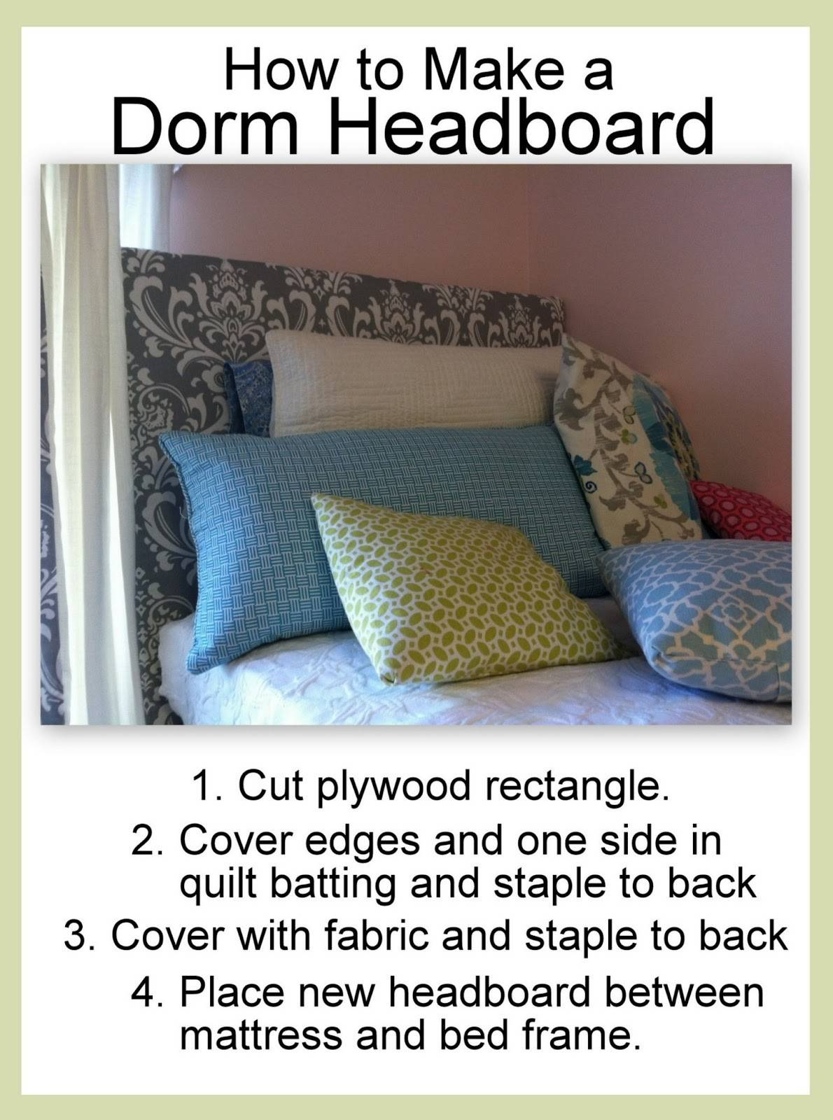 Dorm Headboard Make