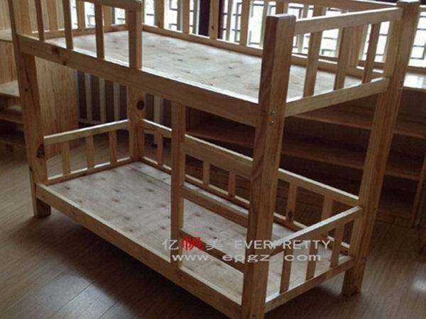 Double Decker Bed Design Pine Wood