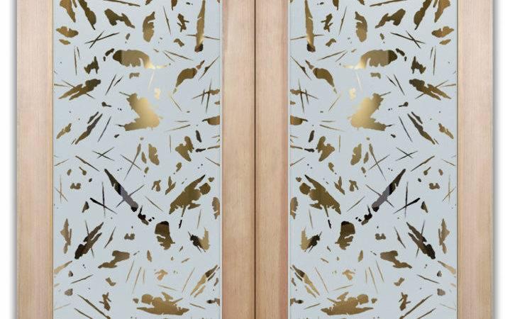 Double Doors Spatter Glass Design Sans Soucie Art