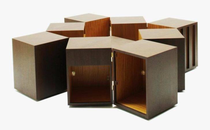 Double Sens Modular Coffee Table Moveable Storage Blocks
