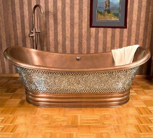 Double Slipper Mosaic Copper Air Bath Antique Ebay