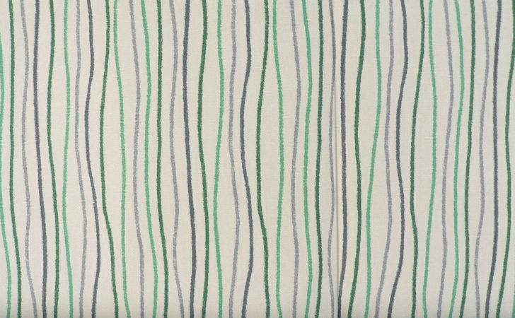 Drapery Upholstery Fabric Contemporary Cotton Stripe Green