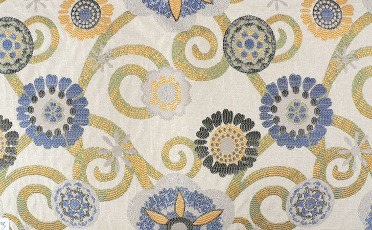 Drapery Upholstery Fabric Contemporary Jacquard Floral