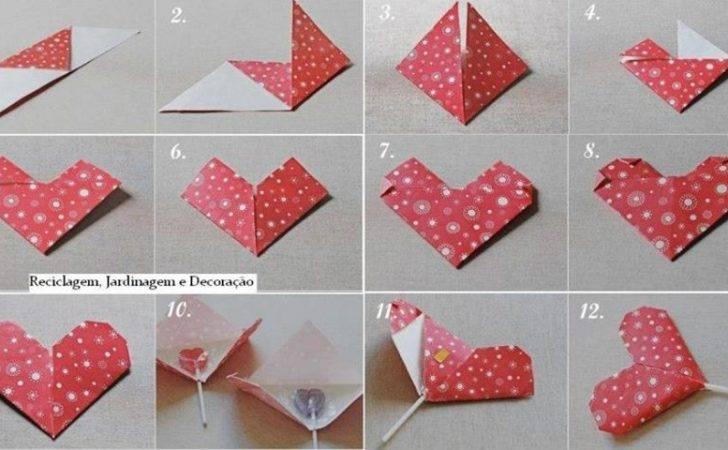 Draw Heart Step Kids Make Lollipop
