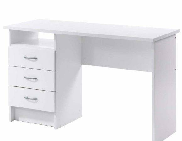 Drawers One Base Awesome White Desks Designs Ideas
