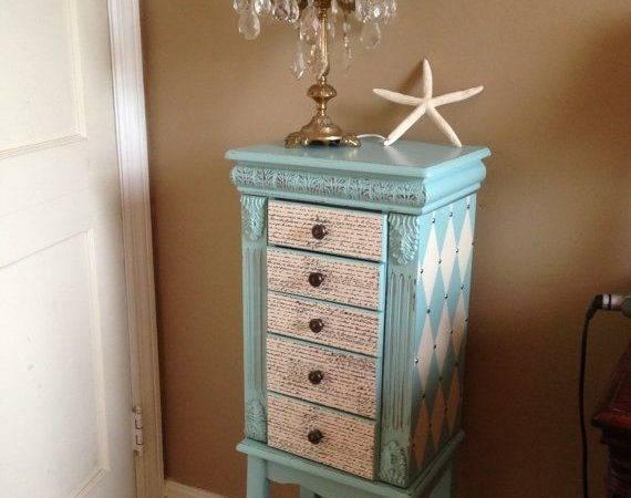 Dream Room Pinterest Jewelry Armoire Armoires Aqua Blue