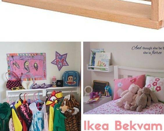 Dress Rails Playroom Book Shelves Beside