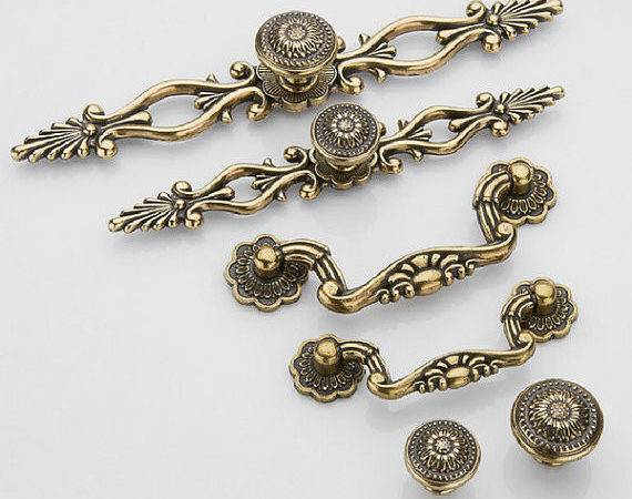 Dresser Knob Pull Drawer Knobs Pulls Handles Antique Bronze Back Plate
