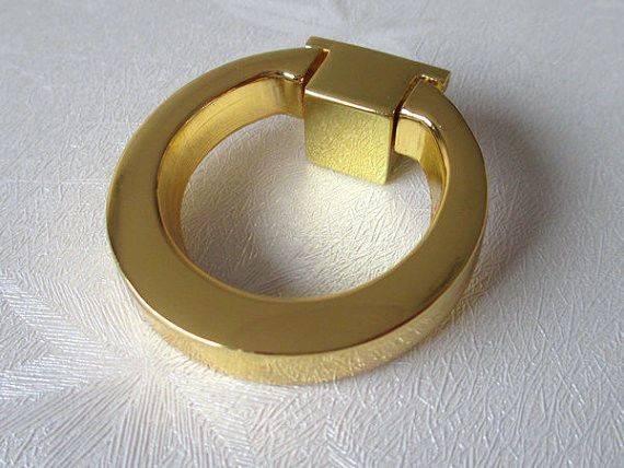 Dresser Knobs Pull Ring Drawer Knob Pulls Cabinet Door Gold