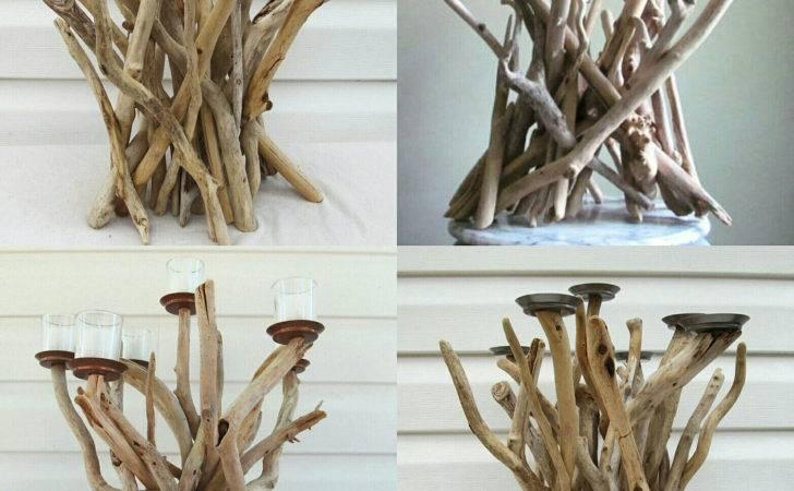 Driftwood Candelabra Candle Holder