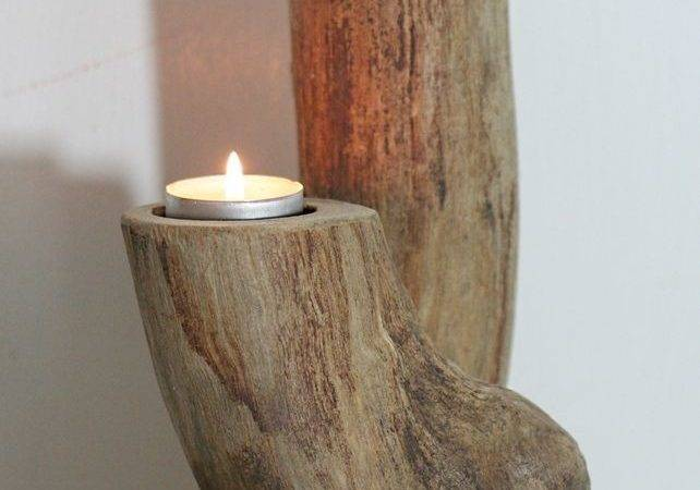 Driftwood Candelabra Drift Wood Candle Holder Table Deco