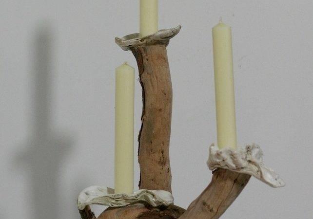 Driftwood Candelabra Drift Wood Candle Holder Table