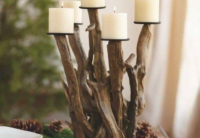 Driftwood Candelabra Neutral Pinterest