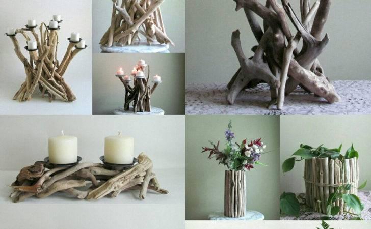 Driftwood Candle Candelabra Beach Decor Wedding