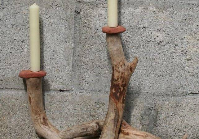 Driftwood Candle Holder Candelabra Stand