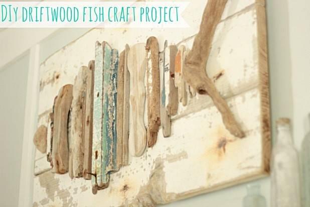 Driftwood Fish Art Diy Space Between