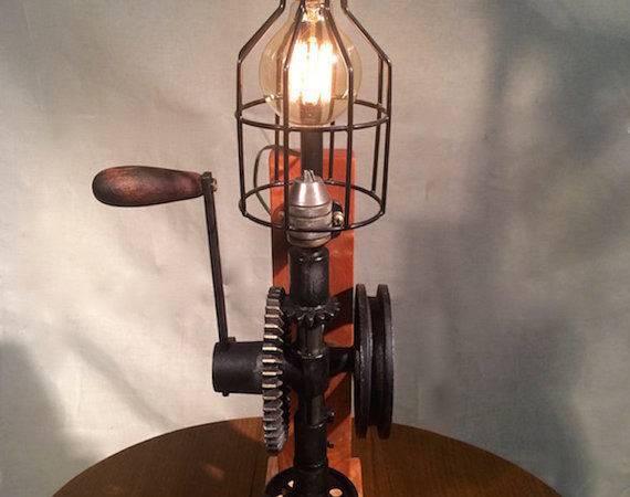 Drill Press Light Repurposed Vintage Industrial Lighting Steampunk