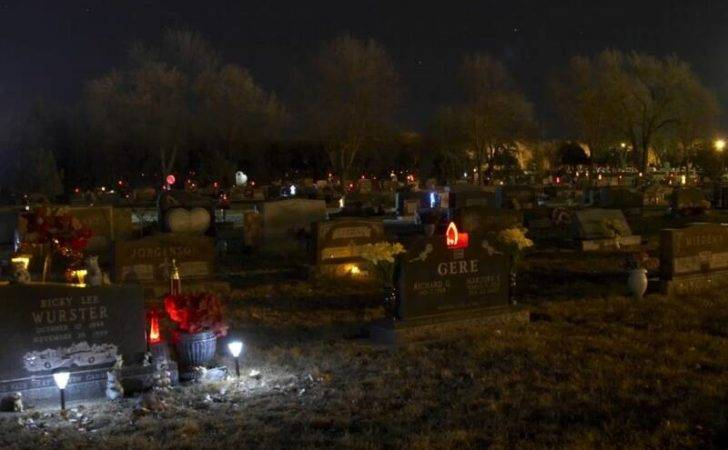 Drive Cemetery Just After Dusk
