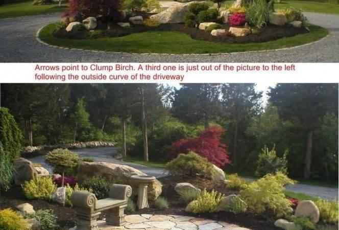 Driveway Entrance Circular Landscaping Landscape Design