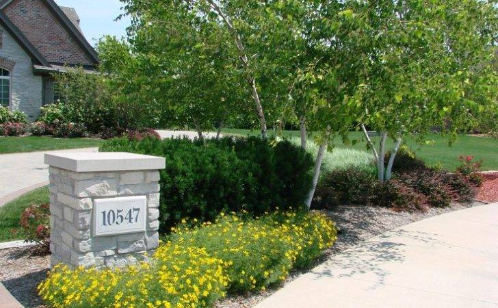 Driveway Entrance Hanging Lights Driveways Landscaping Ideas Curb