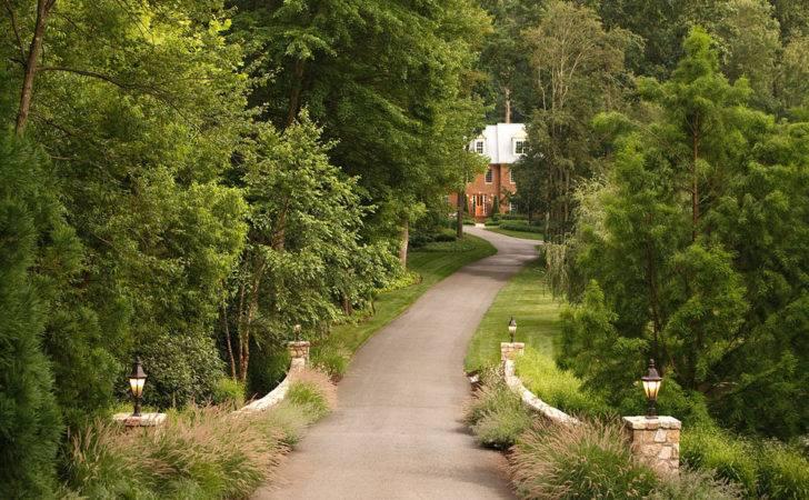 Driveway Entrance Ideas Landscape Traditional Birch