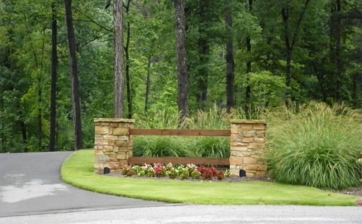 Driveway Entrance Landscaping Quality Creative Llc