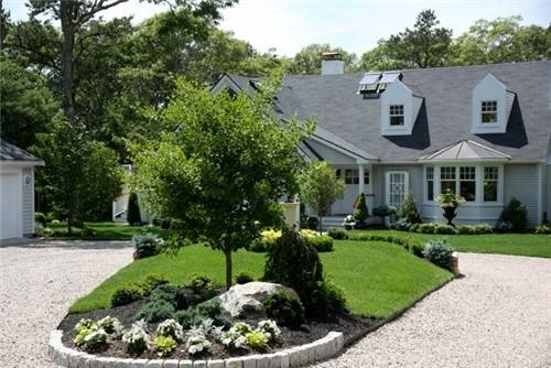 Driveway Entrance Landscaping Waquoit Bay Home Front