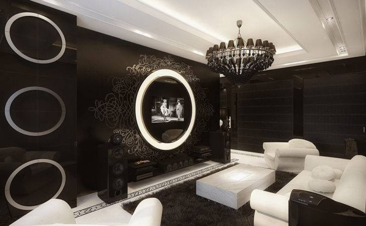 Drop Ceiling Design Black White Interior Modern
