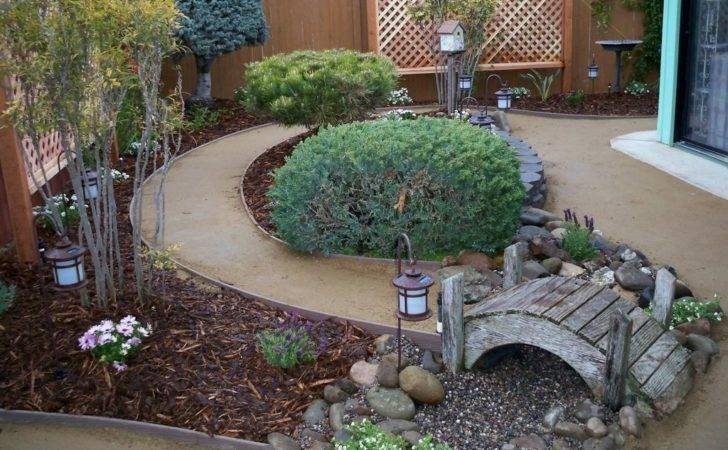 Dry River Bed Landscaping Ideas Double Oven Microwave