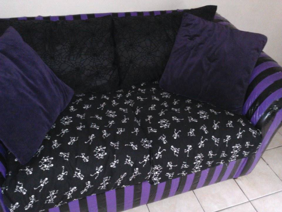 Duct Tape Couch Diy Goth Spooky Crafts Pinterest
