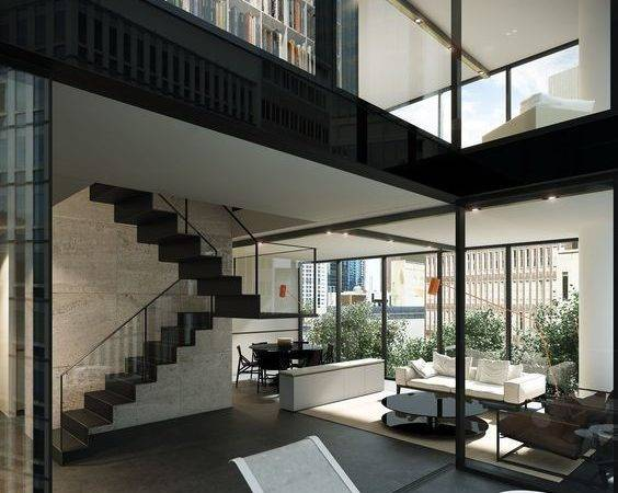 Duplex Townhouse Interior Designed Carr Design Melbourne Tower
