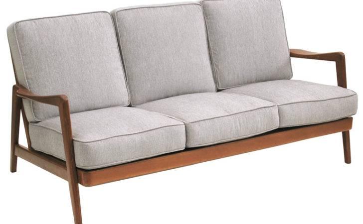 Dux Mid Century Scandinavian Design Wood Frame Sofa Danishes