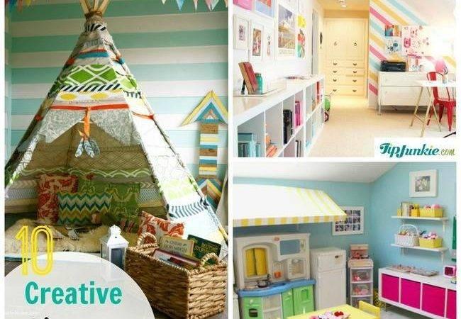 Easy Creative Playroom Spaces Tip Junkie